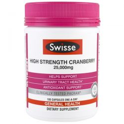 Swisse, Ultiboost, High Strength Cranberry, 25,000 mg, 100 Capsules Pozostałe