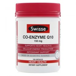 Swisse, Co-Enzyme Q10, 150 mg , 180 Capsules Suplementy diety