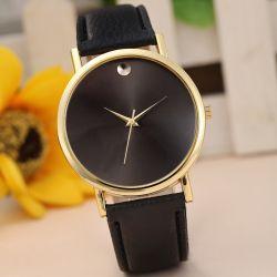 Damski Zegarek Złoty z czarną tarczą i paskiem