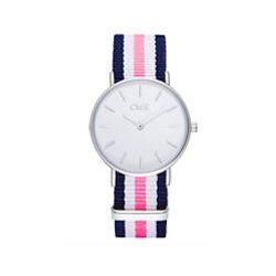Zegarek na rękę CMK kolor srebrny