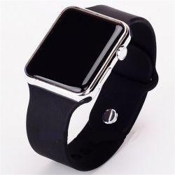 Cyfrowy zegarek na rękę czarno srebrny
