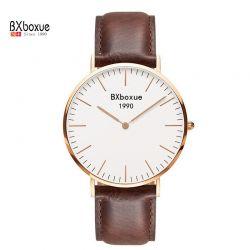 Jedyny Zegarek BXboxue z Brązowym paskiem