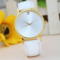 Damski Zegarek Złoty z białą tarczą i paskiem