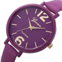 Damski zegarek kwarcowy Geneva Platinum Violet