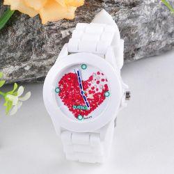 Damski zegarek kwarcowy Geneva Jelly Red