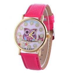 Damski zegarek kwarcowy Geneva (sowa)