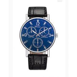 Męski zegarek kwarcowy Geneva blue