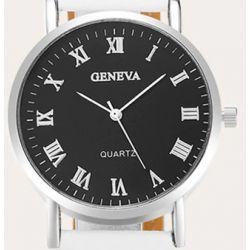 Męski zegarek kwarcowy Geneva black