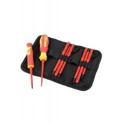 Zestaw wkrętaków VDE dla elektryka 10 elementów 05721 Draper