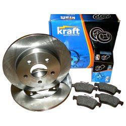 KRAFT Tarcze + Klocki FORD Focus II Tył