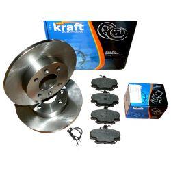 KRAFT Tarcze + Klocki RENAULT Clio I Przód