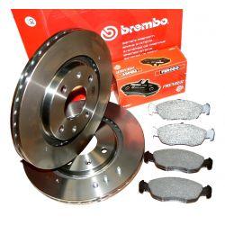 BREMBO Tarcze + Klocki PEUGEOT 206 405 Partner