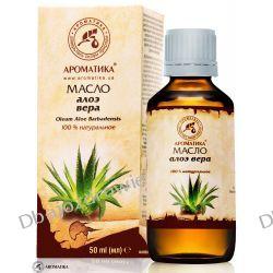 Olej Aloesowy (Aloes), 100% Naturalny, 50 ml Preparaty witaminowo-mineralne
