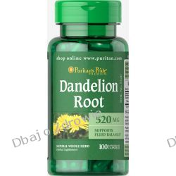 DANDELION ROOT, PURITAN'S PRIDE 100 KAPS., 520 mg KAMICA Skóra, włosy, paznokcie