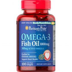 OMEGA 3 FISH OIL (1000 MG), 100 KAPS., PURITAN'S PRIDE  Preparaty witaminowo-mineralne