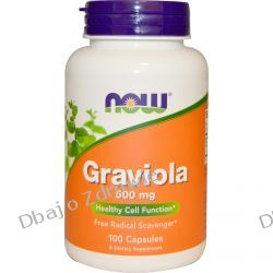 NOW FOODS GRAVIOLA 500 MG, 100 KAPSUŁEK  Yerba mate