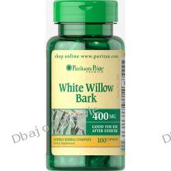 WHITE WILLOW BARK PURITAN'S PRIDE (KORA WIERZBY BIAŁEJ) 400 MG/100 KAPSUŁEK Stawy, kości, mięśnie