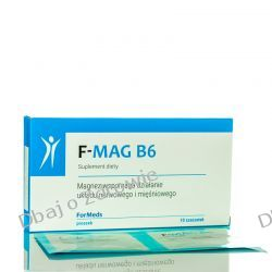 F-MAG B6, MAGNEZ + WITAMINA B6, 10 SASZETEK Pamięć, układ nerwowy