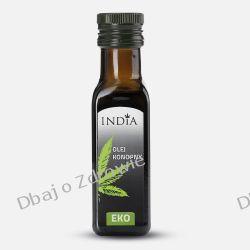 Olej Konopny Tłoczony na Zimno Ekologiczny, India, 100ml Oliwy i oleje, sosy