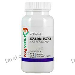 Olej z Czarnuszki 500mg, MyVita, 120 kapsułek Preparaty witaminowo-mineralne