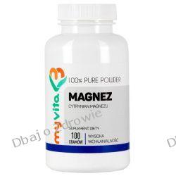 Magnez (Cytrynian Magnezu), Proszek, MyVita, 100g Zdrowie i Uroda