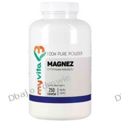 Magnez (Cytrynian Magnezu), Proszek, MyVita, 250g Stawy, kości, mięśnie