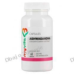 Ashwagandha 3% 250mg, Myvita, 60 kapsułek Zdrowie i Uroda