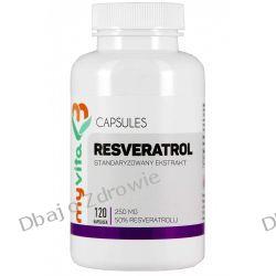 Resveratrol 250mg, Myvita, 120 kapsułek Zdrowie i Uroda