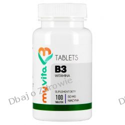 Niacyna Witamina B3 50mg, Myvita, 100 tabletek