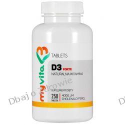 Witamina D3 Forte 4000IU, MyVita, 250 tabletek Zdrowie i Uroda