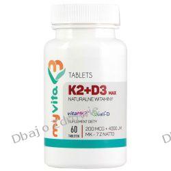 Witamina K2 MAX+ D3 MAX, Myvita, 60 tabletek Zdrowie i Uroda