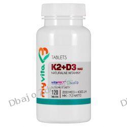 Witamina K2 MAX+ D3 MAX, Myvita, 120 tabletek Preparaty witaminowo-mineralne