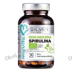 Spirulina 100% BIO 600 mg, SILVER PURE Myvita, 50 kapsułek Zdrowie i Uroda