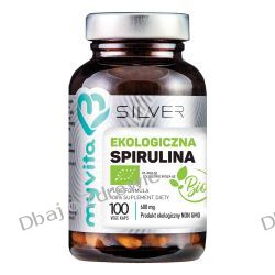 Spirulina 100% BIO 600 mg, SILVER PURE Myvita, 100 kapsułek Mydła