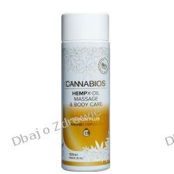 Olejek Konopny do Masażu X-OIL Lemon Cannabios, 100ml Balsamy