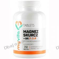 Magnez Skurcz + Witamina B6 P-5-P, Tabletki, MyVita, 250 tabletek Zdrowie i Uroda