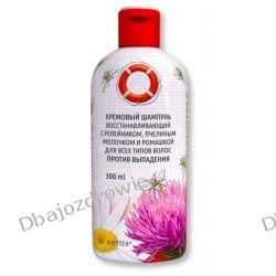 Kremowy Szampon Przeciw Wypadaniu Włosów z Łopianem i Mleczkiem Pszczelim Preparaty witaminowo-mineralne