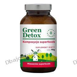 Green Detox Kompozycja Superfoods, Proszek, Aura Herbals, 90g Zdrowie, medycyna