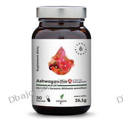 Ashwagandha KSM-66 Korzeń 500 mg, Aura Herbals, 30 kapsułek Zdrowie i Uroda