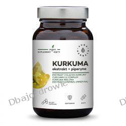 Kurkuma Ekstrakt + Piperyna, Aura Herbals, 60 kapsułek Zdrowie i Uroda