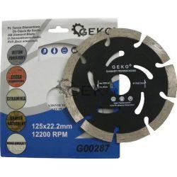 Geko Tarcza diamentowa do cięcia segmentowa Black 125x2mm G00287 Płaskie, oczkowe, płasko-oczkowe