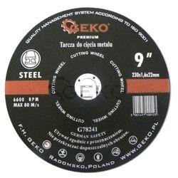 Tarcza do cięcia metalu GEKO PREMIUM 230x1.6 25/100, G78241 Płaskie, oczkowe, płasko-oczkowe