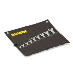 Klucze płasko-oczkowe, 42235 mm, 9 elementów Edwin Płaskie, oczkowe, płasko-oczkowe