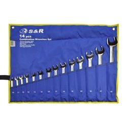 Zestaw kluczy płasko-oczkowych S&R w pokrowcu 14 szt. 670062214
