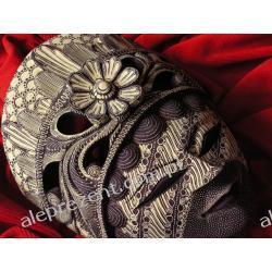 Dekoracyjny Prezent RZEŹBA Egzotyczna Maska SŁODYCZY