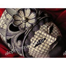 Dekoracyjny Prezent RZEŹBA Egzotyczna Maska SYMETRII