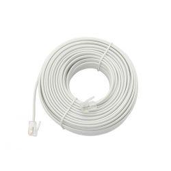 Przewód telefoniczny kabel prosty RJ11 20m  9113bi Pozostałe