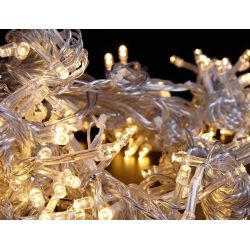 Lampki CHOINKOWE LED 200 silikon biały CIEPŁY 13mb
