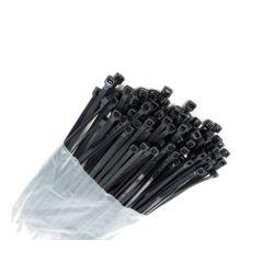 Opaski zaciskowe PCV 160/3.0mm  czarne 100szt 7590