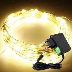 Lampki na drucie 100 LED/10mb 230V ciepłe